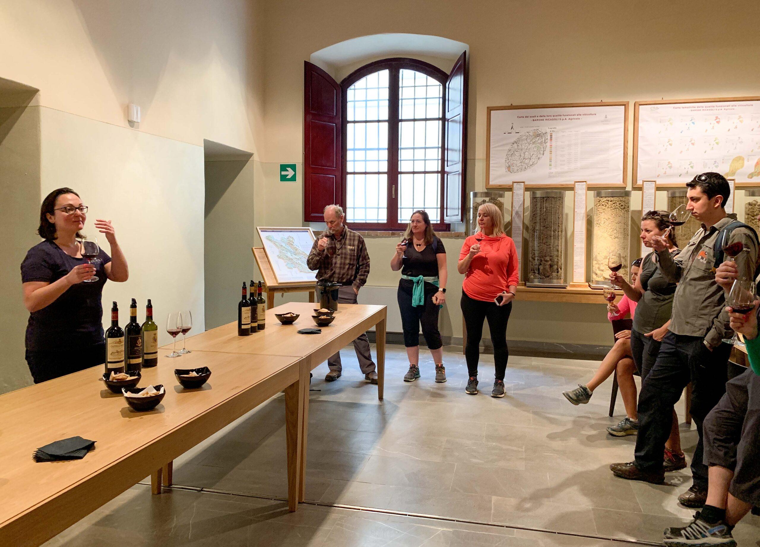 A wine tasting at Enoteca del Castello di Brolio was a part of our Chianti wine tour.