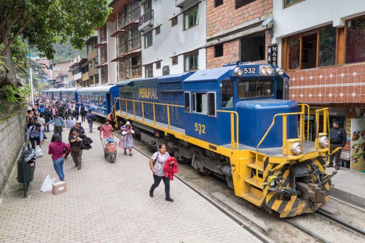 Train in Aguas Calientes