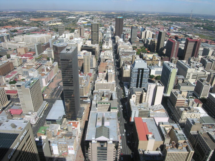 View of Johannesburg from 50th floor of Carlton Centre