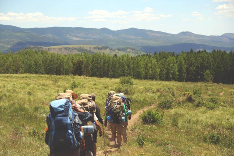Backcountry trekkers