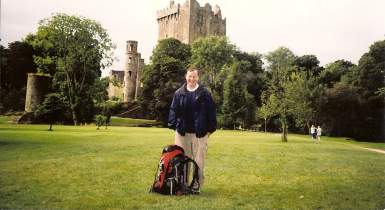 On my own at Blarney Castle, Ireland (August 1998)
