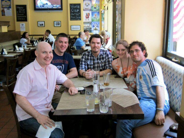 Lunch @ TBEX (L to R): me, Matt Long, Mike Richards, Stephanie Yoder, Michael Tieso