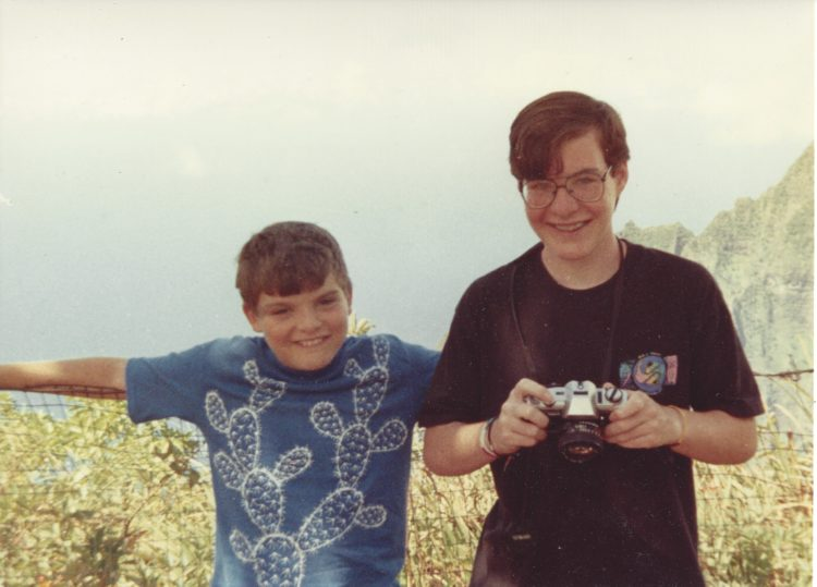 Jon (left) and me (right) in Hawaii