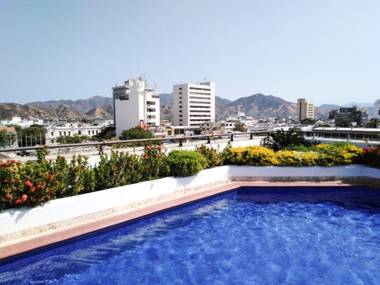 Rooftop pool at an Airbnb in Santa Marta, Colombia (photo: Dave Lee)