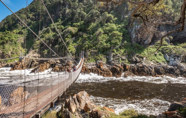 Suspension bridge in Storms River (photo: Andreas Gollner, Pixabay)