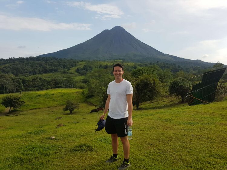 A volcano and me before meeting Abelina