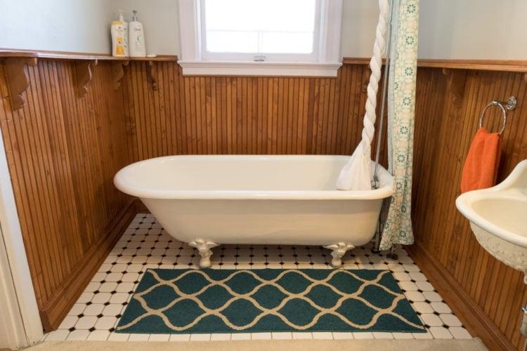 Antique bathtub at Fernweh Inn & Hostel