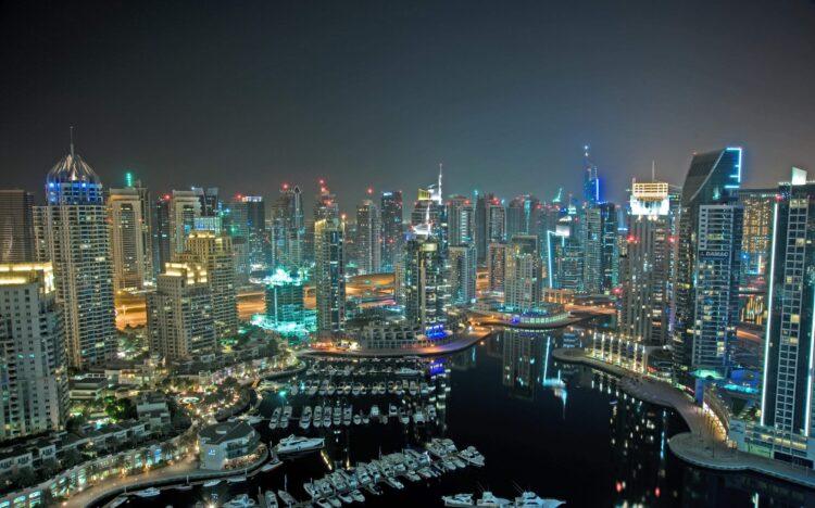 Dubai at night (photo: Elena Jones, Pixabay)