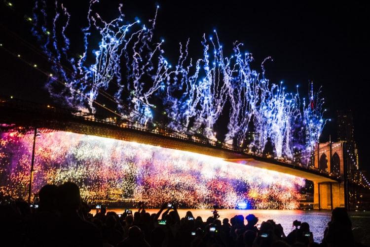 July 4th Fireworks, Brooklyn Bridge, 2014