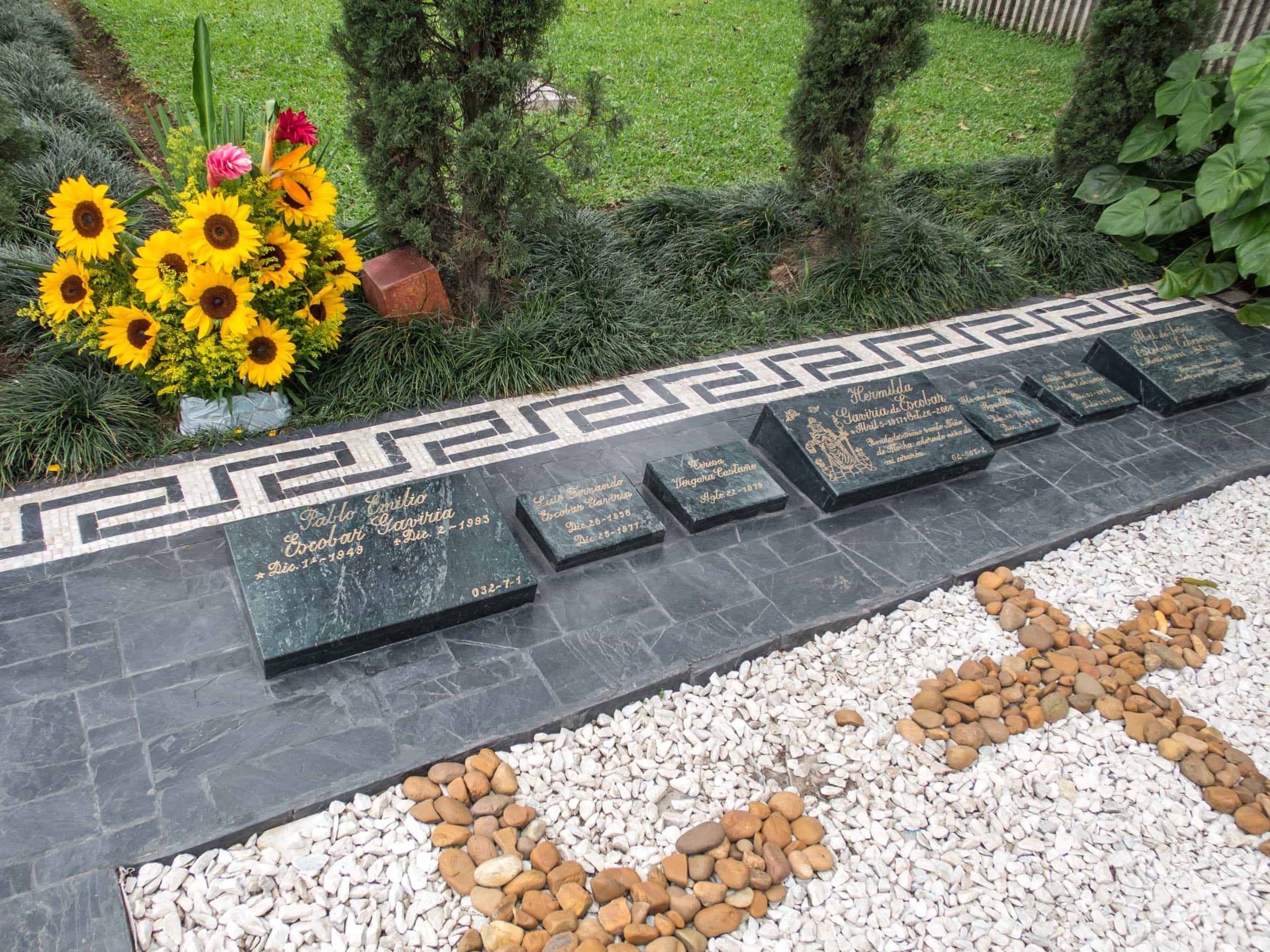 Pablo Escobar's family grave.