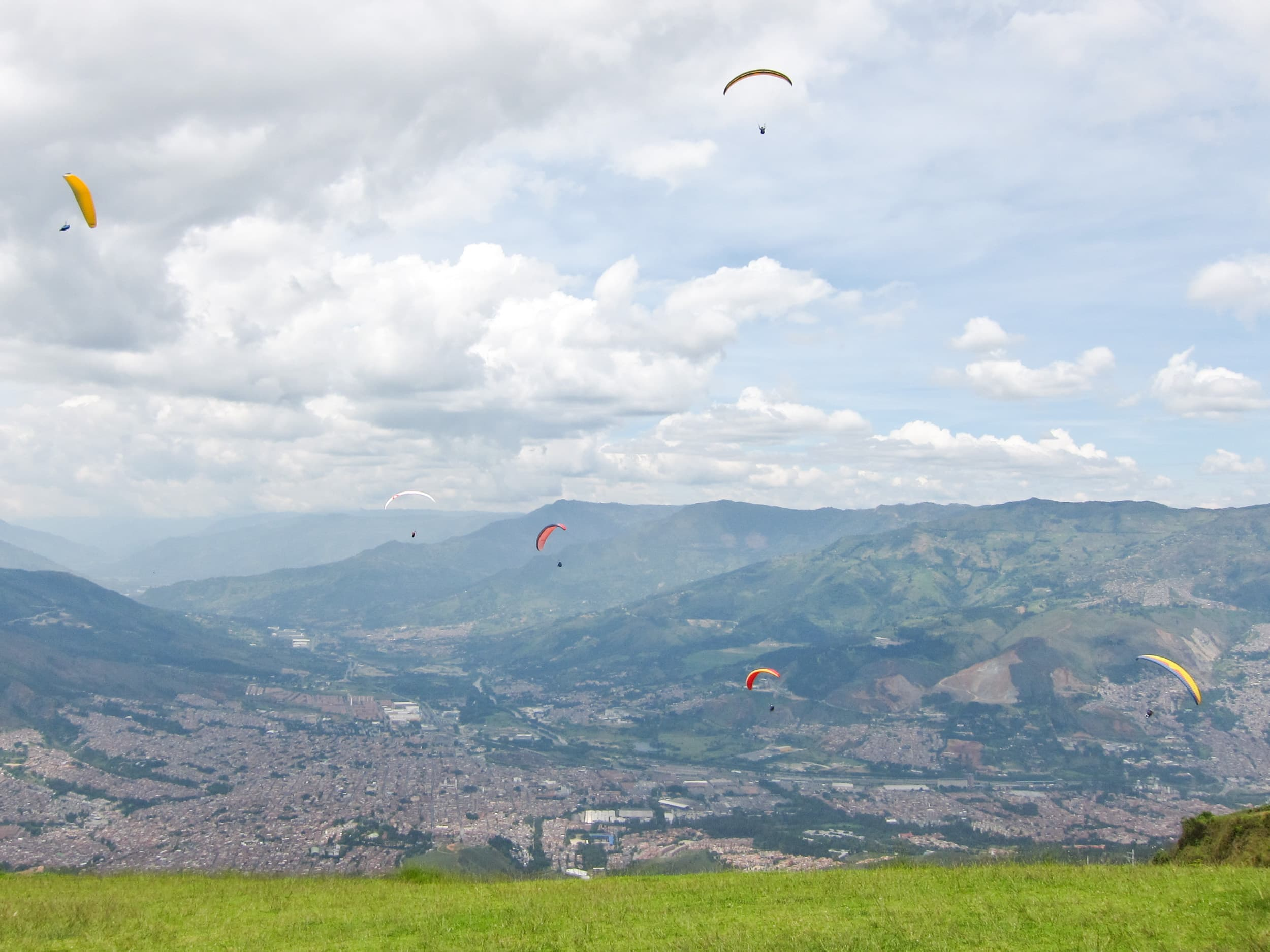 Paragliding is one of many fun things to do in Medellín, CO.