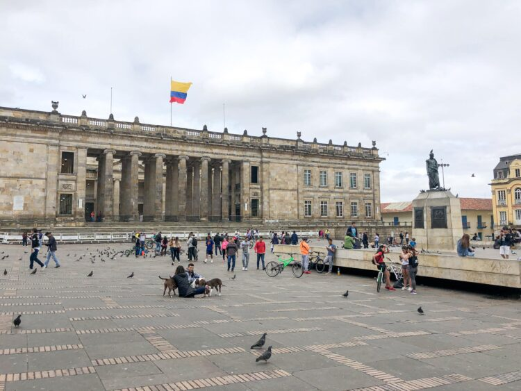 Plaza Bolivar in Bogota, Colombia is one place you want to avoid looking like a gringo in Latin America