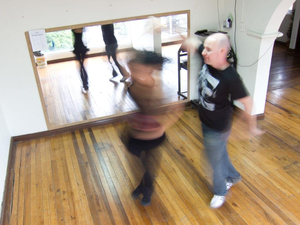 Salsa dancing lesson