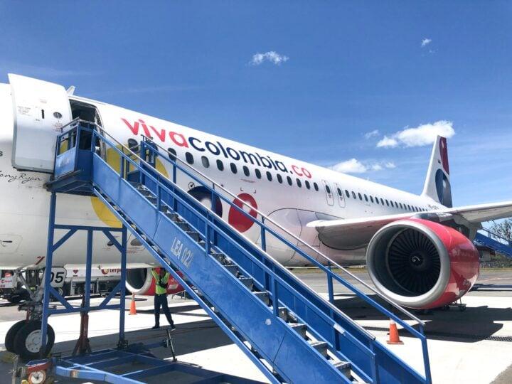 Boarding a Viva Air Colombia flight