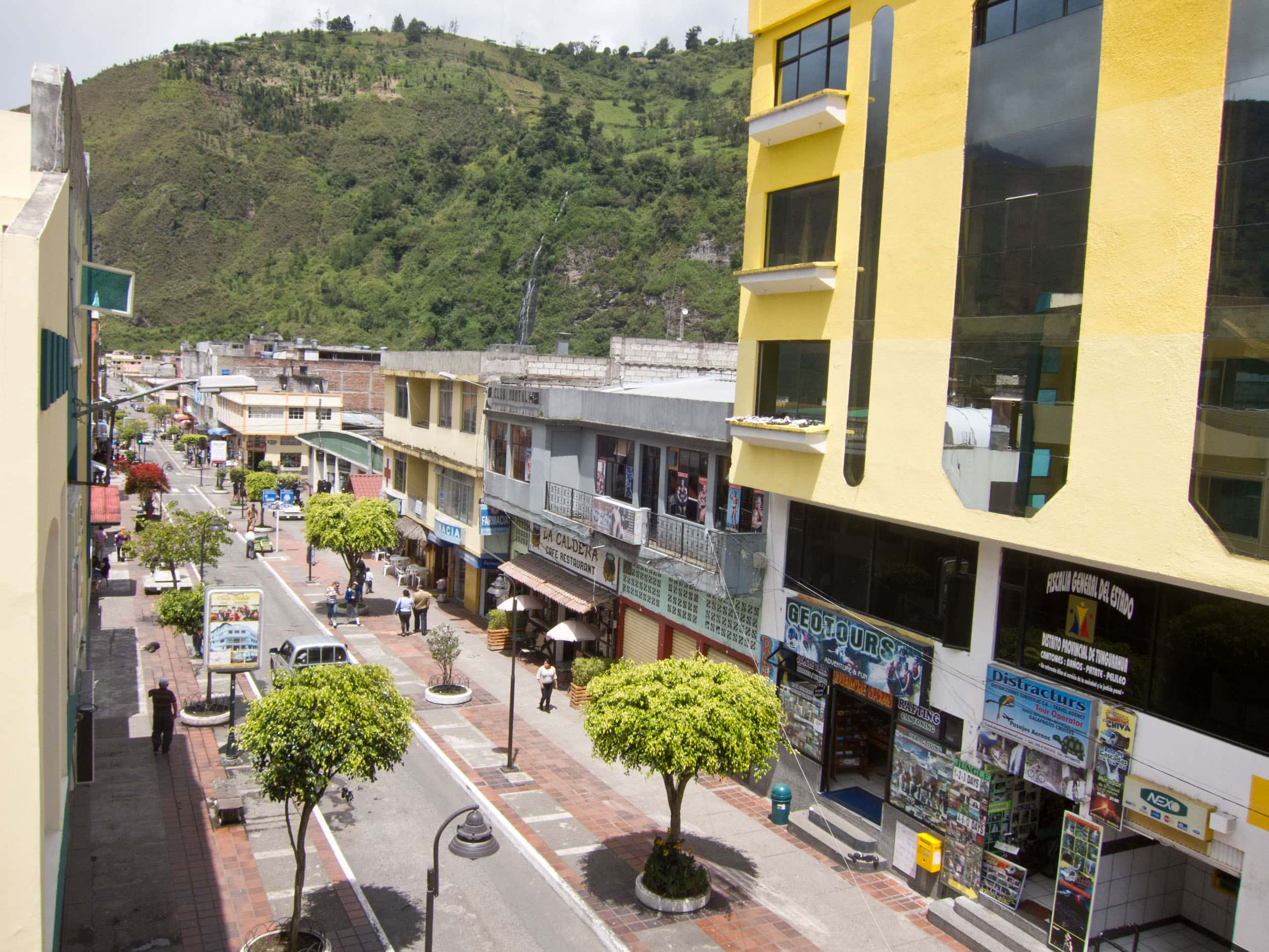 Ambato is the main street running through central Banos