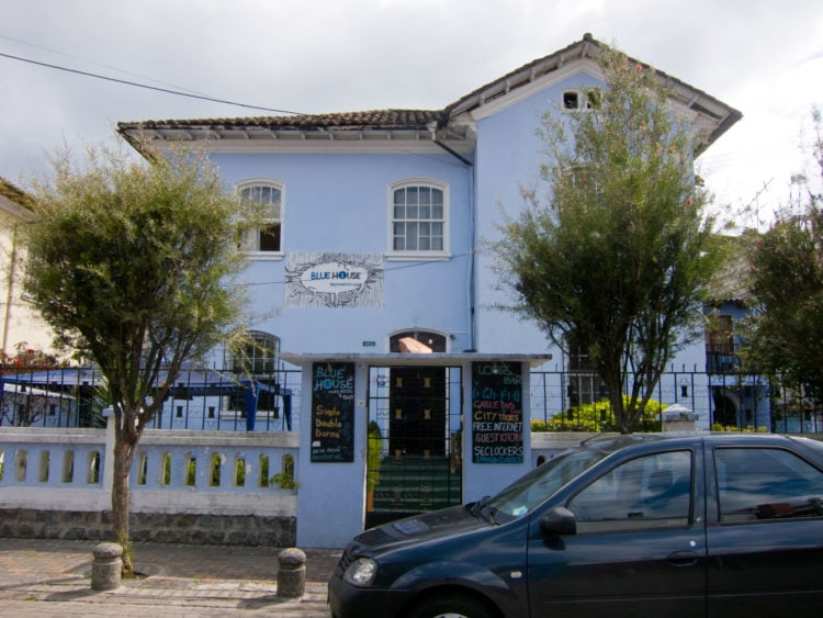 The Blue House in La Mariscal