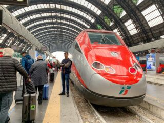 High Speed train in Milan, Italy