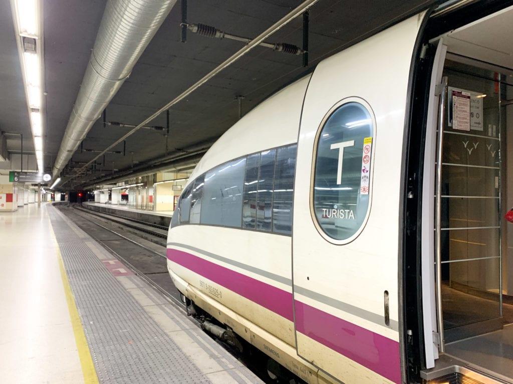 High-speed train in Barcelona