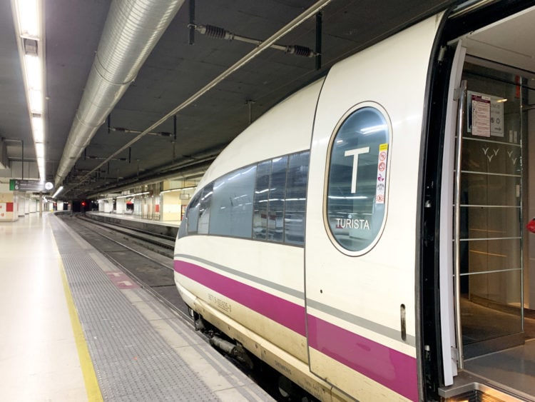 High-speed train in Barcelona