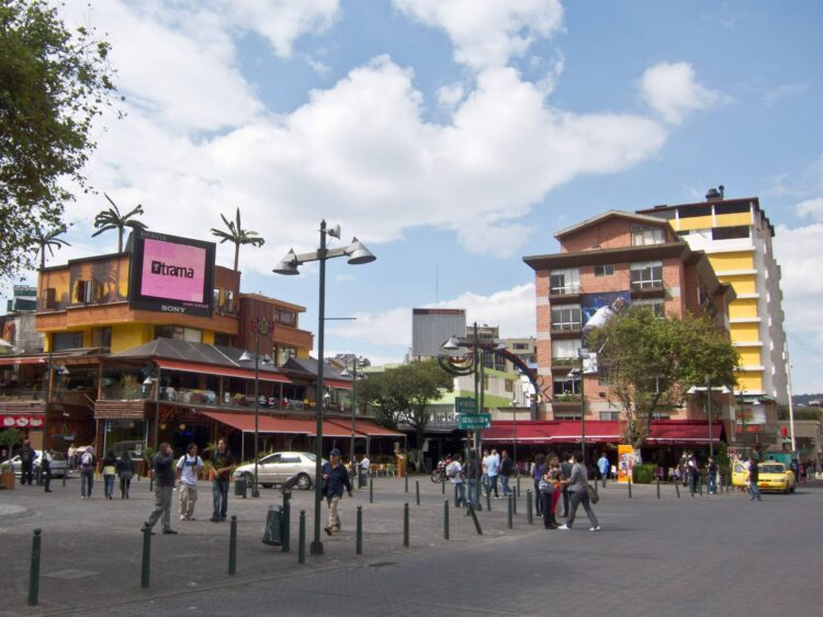 Plaza Foch is the epicenter of nightlife in Quito