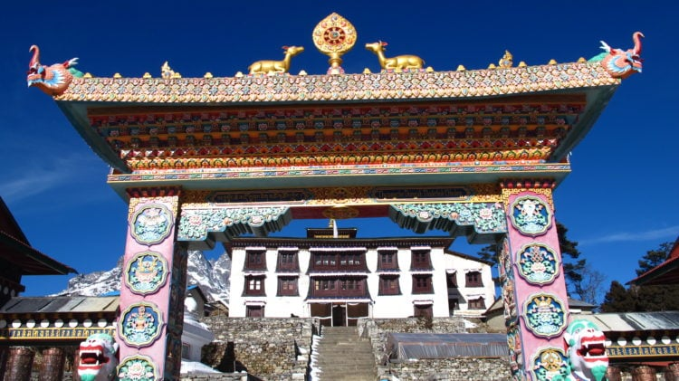Tengboche Monastery in the Everest region of Nepal