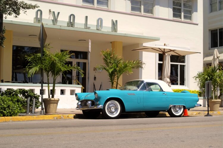 Vintage car in South Beach, Miami