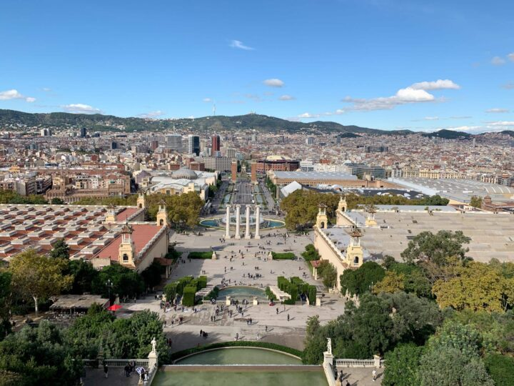 View of Barcelona from the roof of MNAC