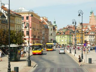 Buses in Warsaw, Poland