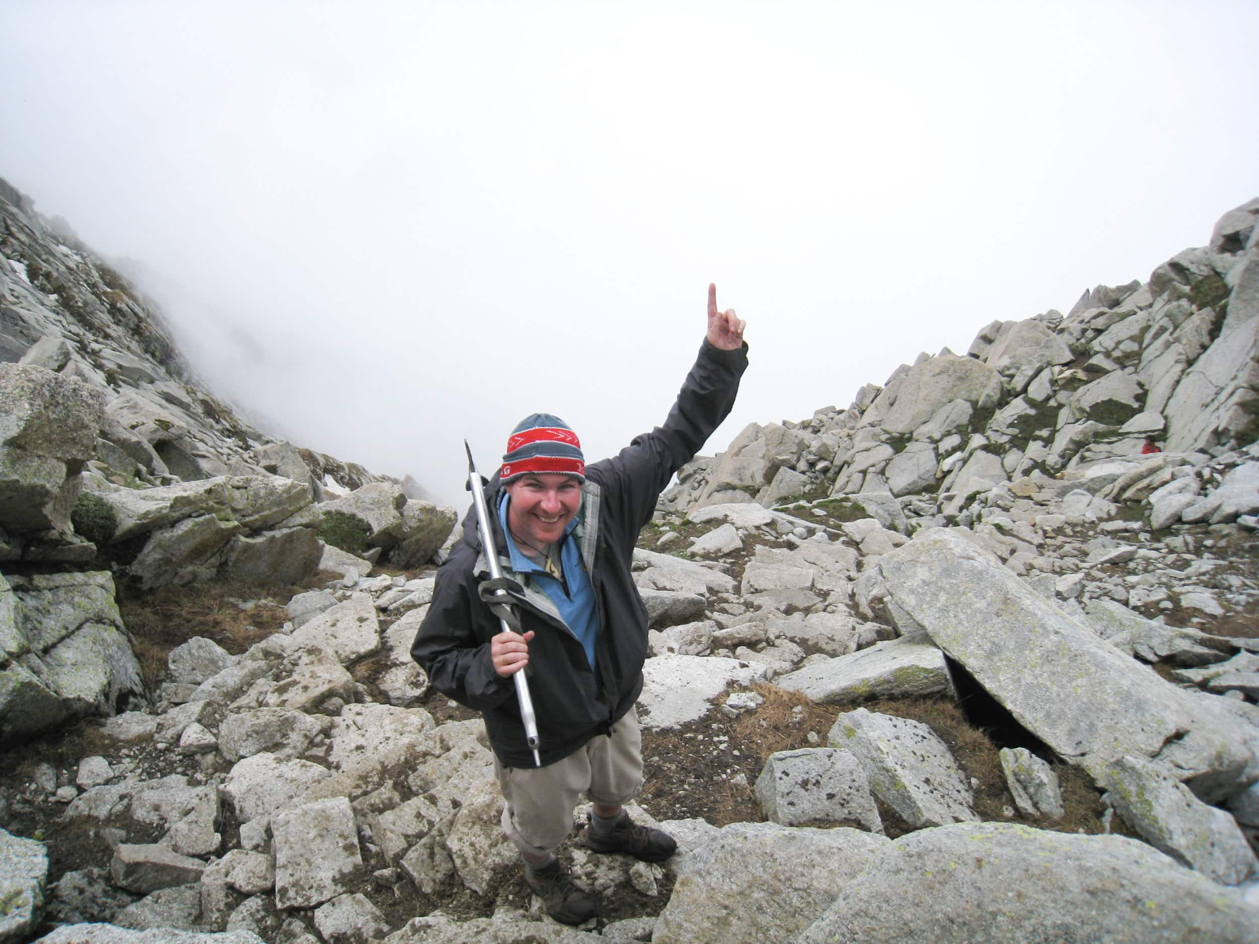Me at 4,300 meters, a few steps below Indrahar Pass