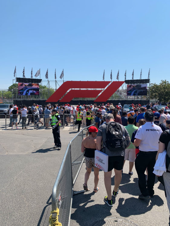 Arriving at Circuit Gilles Villeneuve