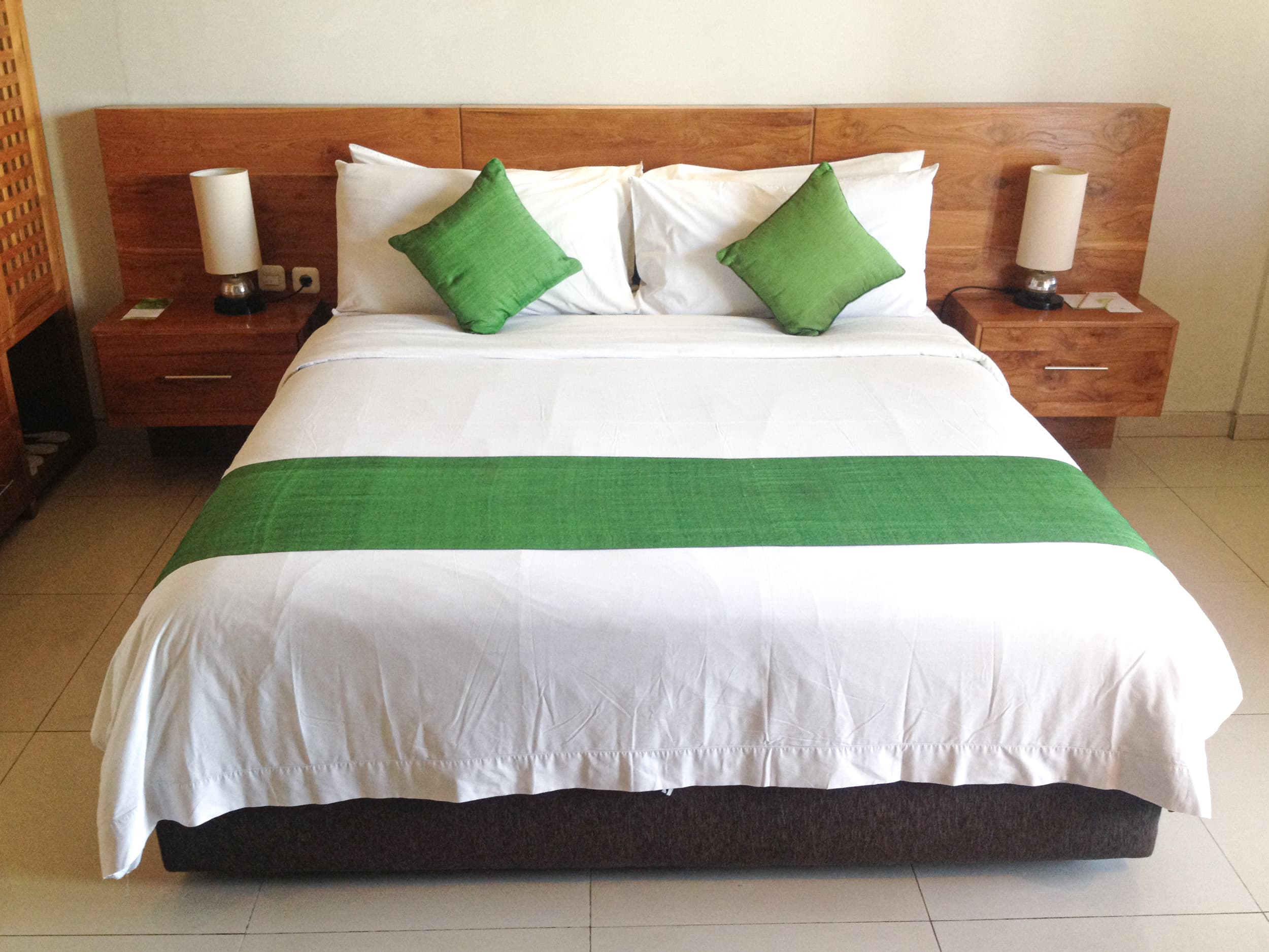 Hotel bed in Bali