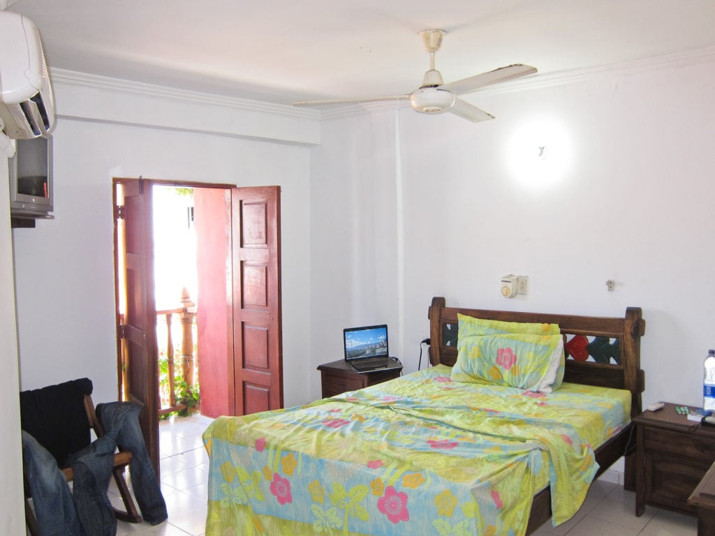 Private room with AC at a hostel in the Getsemani neighborhood of Cartagena