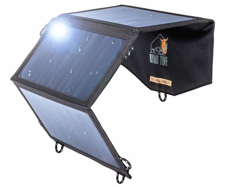 The Ryno solar charger is one of Adam's favorite travel essentials