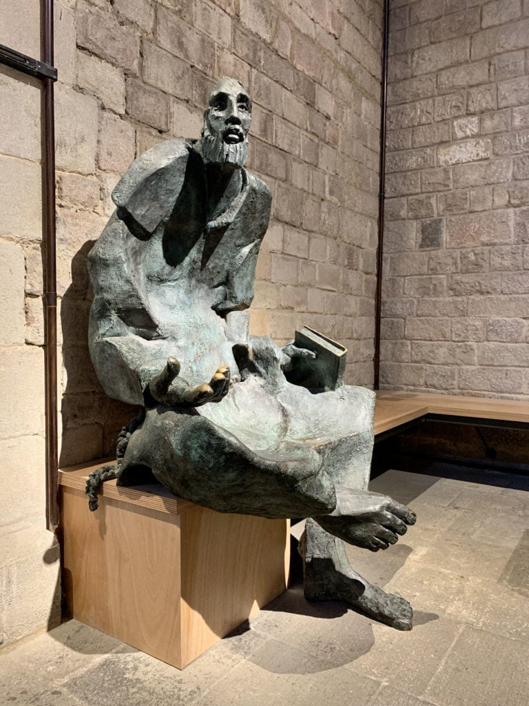 Sculpture in Basilica of Santa Maria del Mar