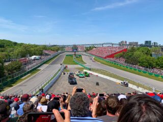 View from Grandstand 34, inside the hairpin curve at Turn 10