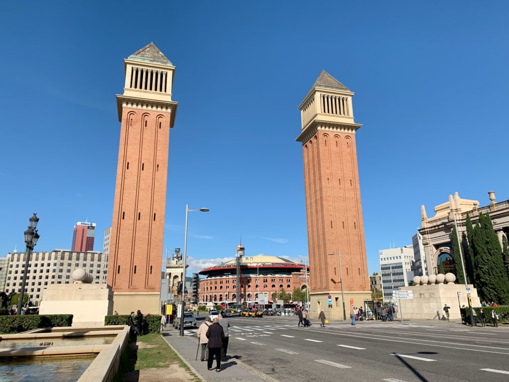 Venetian Towers at Placa d'Espanya