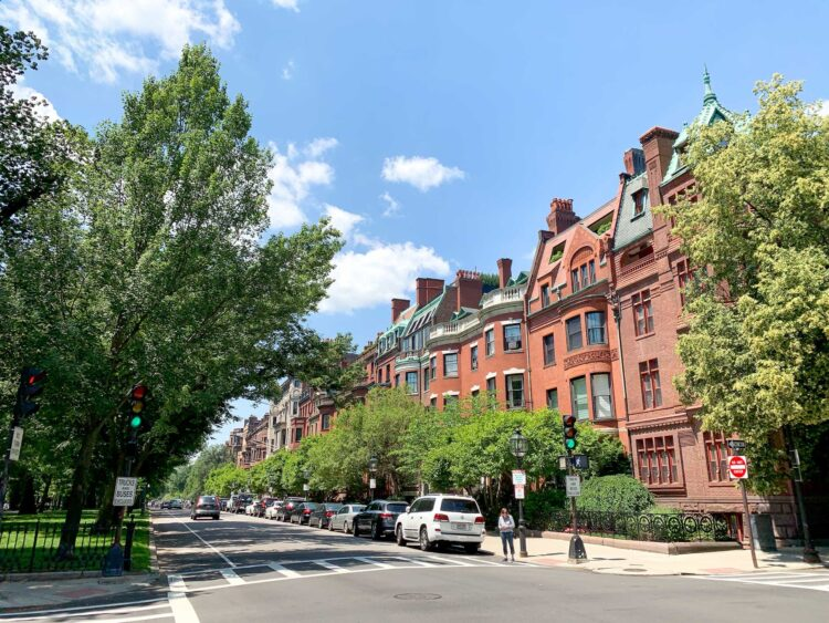 Walking around the Back Bay neighborhood is a free and fun way to spend an afternoon in Boston