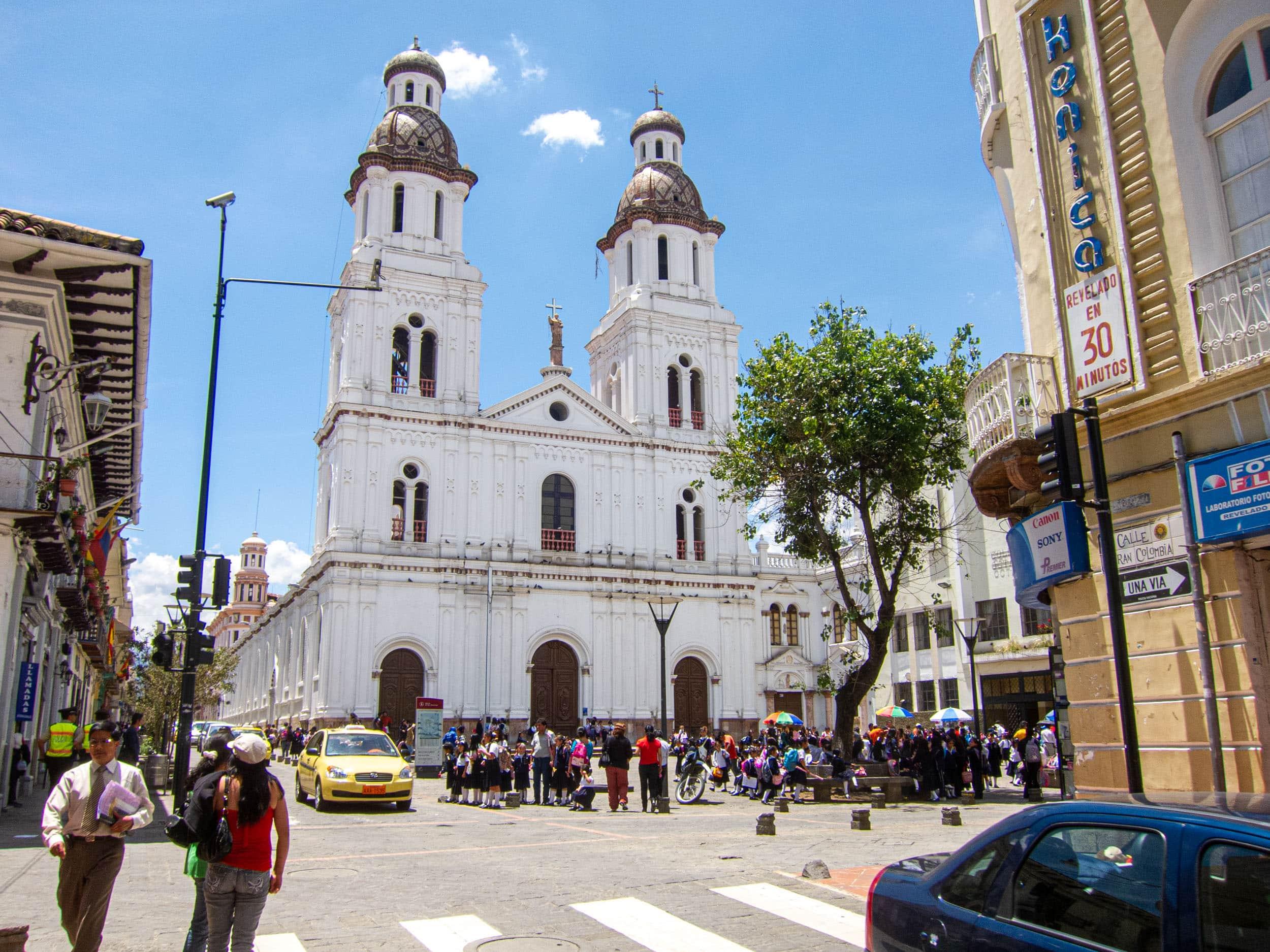A church in Cuenca