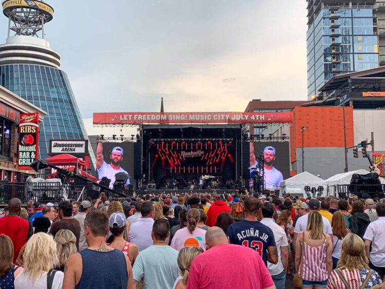 4th of July concert in Nashville