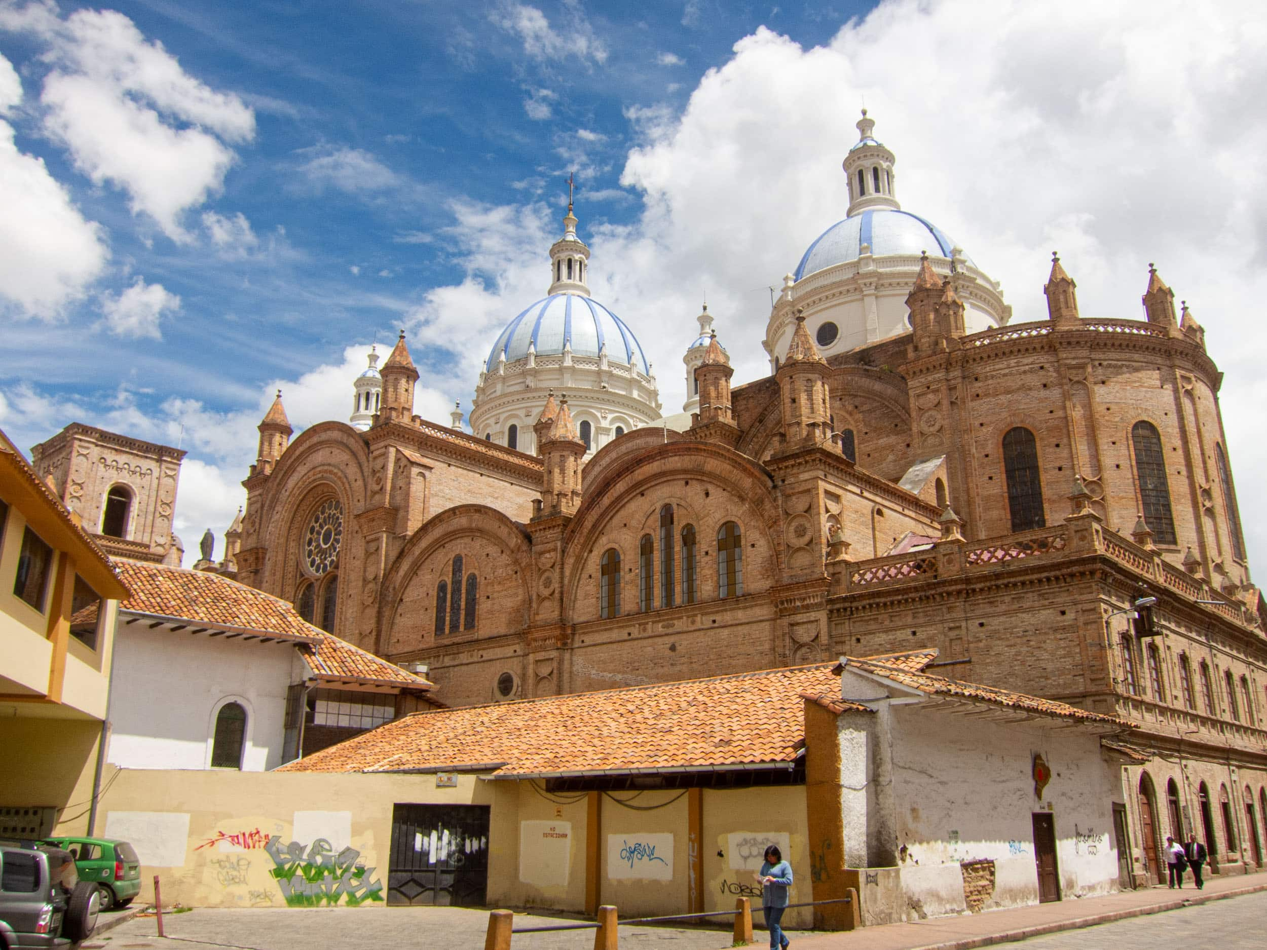 The blue and white domes of La Catedral