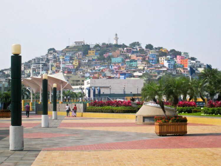 Colorful Las Penas as seen from the Malecon