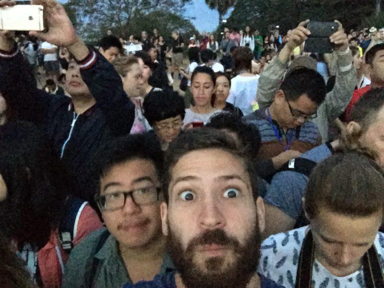 Crowds at Angkor Wat