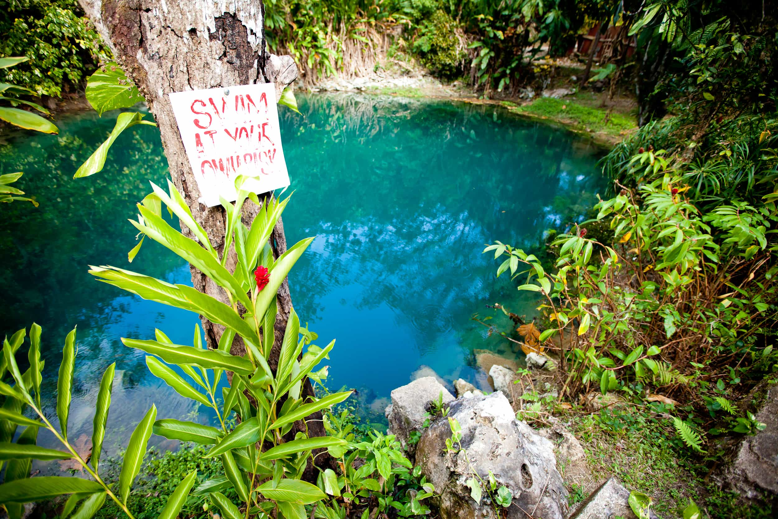 The Blue Hole natural spring is one of many hidden gems of Jamaica