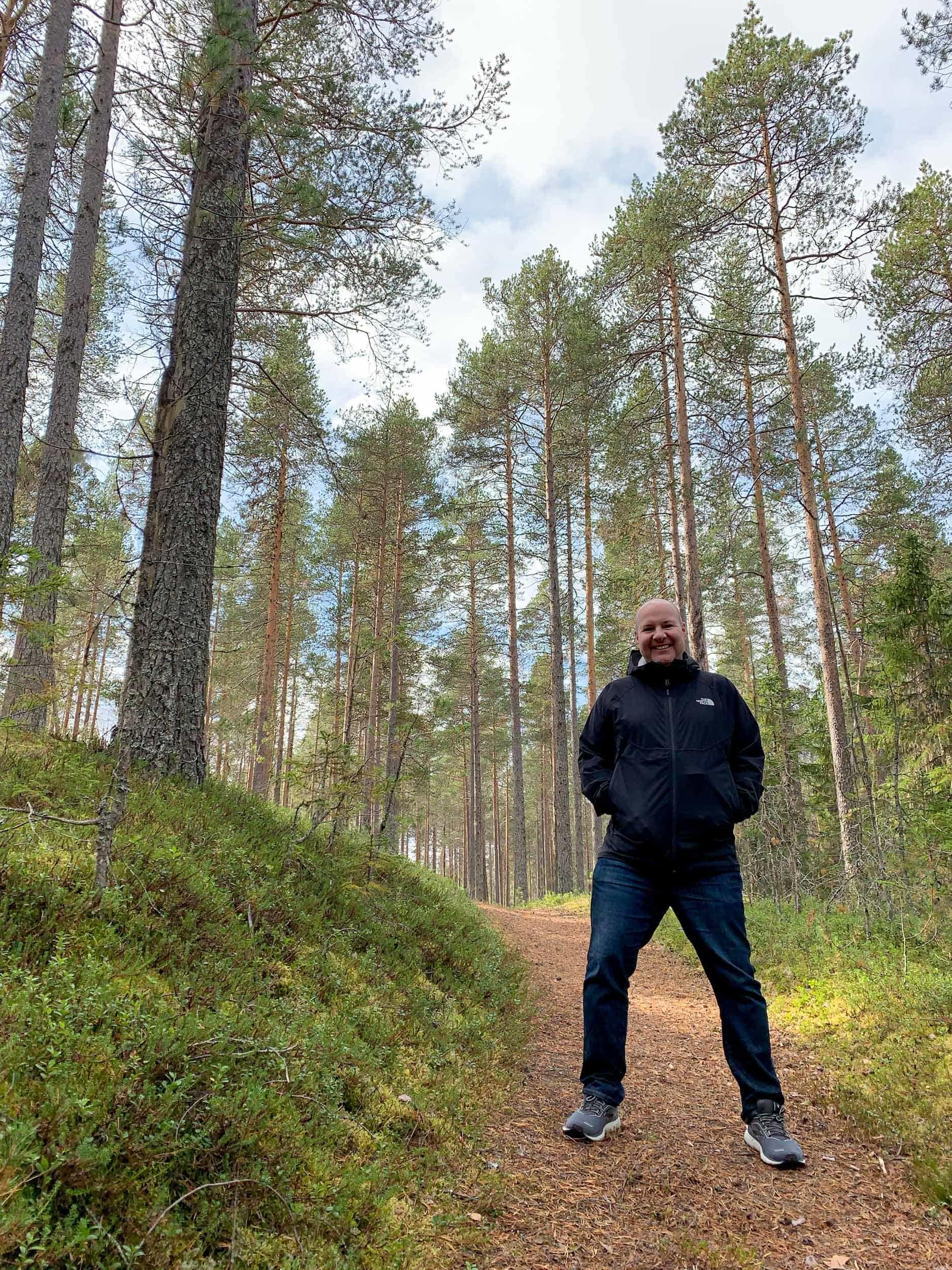 Nature walk in Vasterbotten, Swedish Lapland