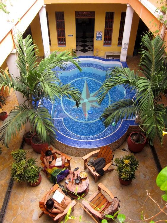 Courtyard at La Brisa Loca Hostel