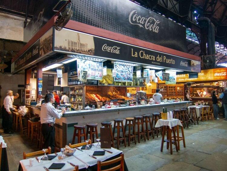 Inside Mercado del Puerto