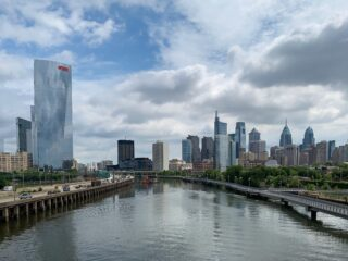 Philadelphia as seen from South Street Bridge