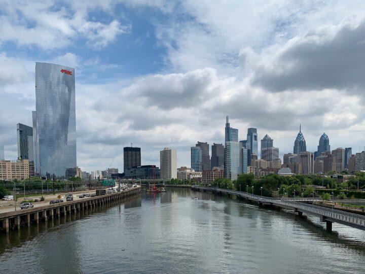 Philadelphia as seen from South Street Bridge