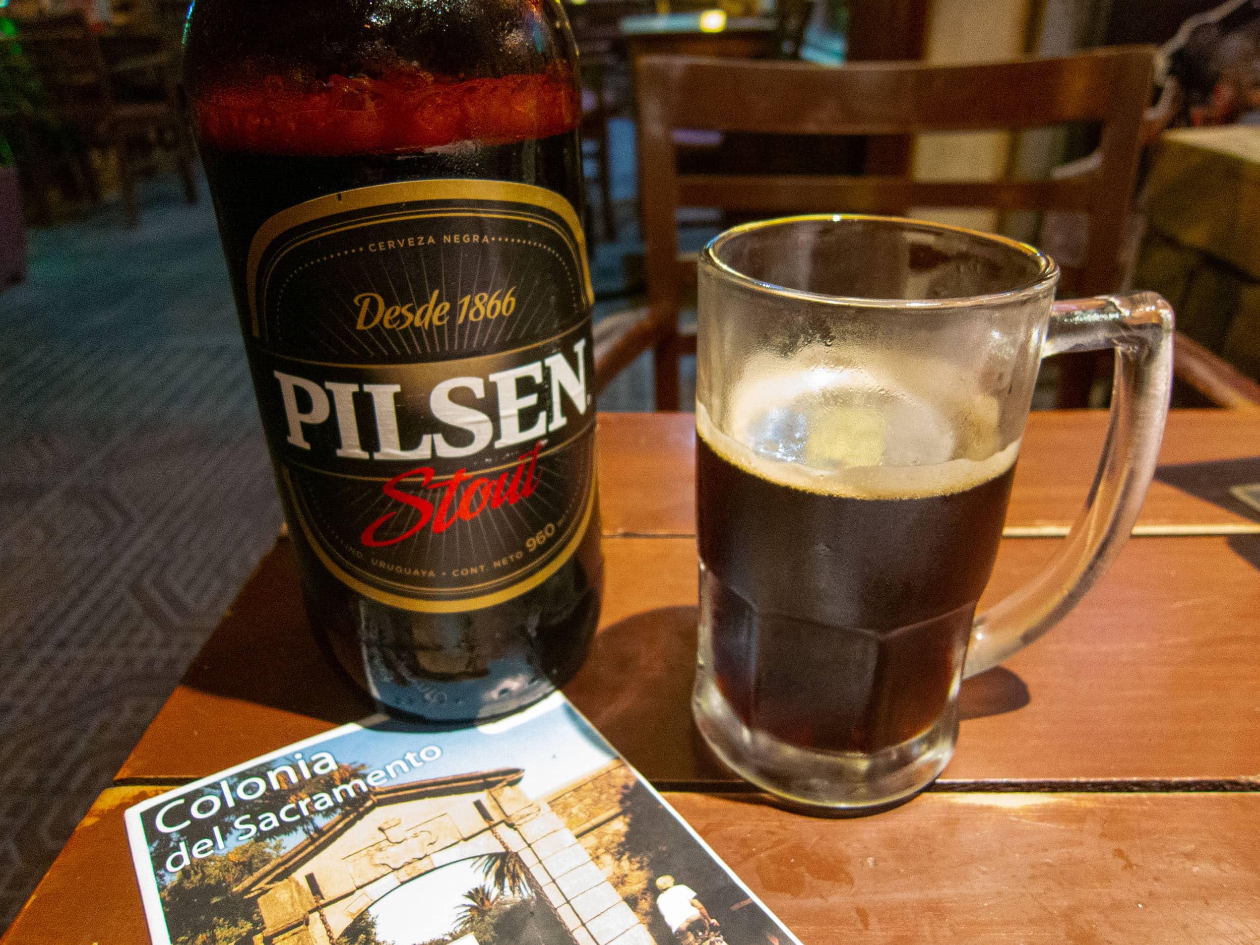 1-liter bottle of Pilsen Stout