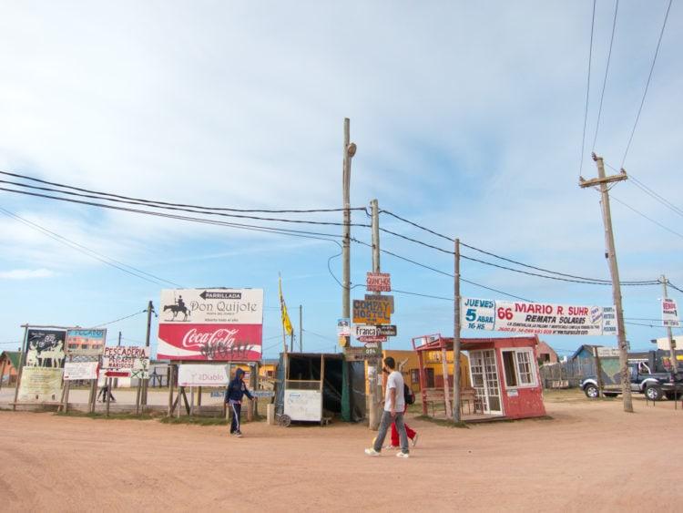 Drop off point for the buses in Punta del Diablo, Uruguay